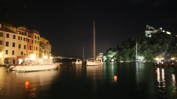 Portofinoharbour At Night Italy 2