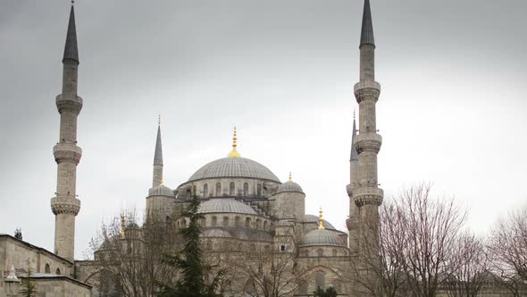 Timelapse Of The Famous Blue Mosque In Istanbul Turkey