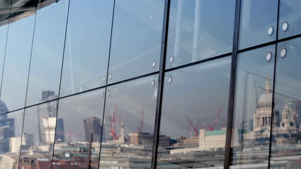 Reflection Of London Skyline In Oxo Tower Window 1