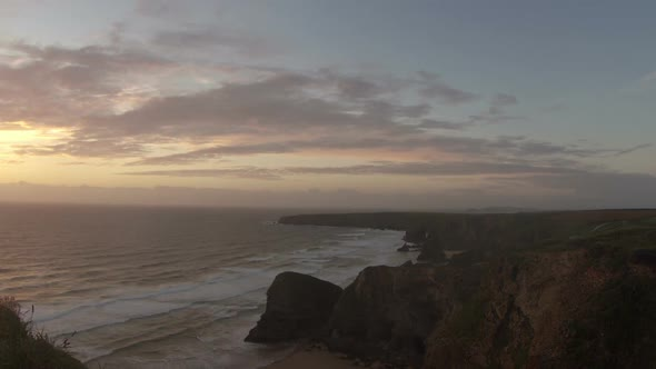 Timelapse Of The Stunning And Dramatic Coastline In Cornwall Coast England 1