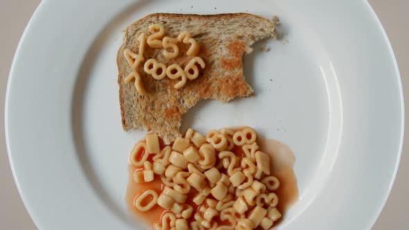 VideoHive Number Sequence Made From Spaghetti Pasta Letters In Tomato Sauce On Toast 4 10971207