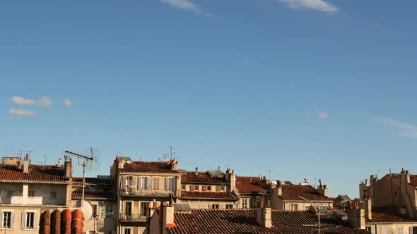 VideoHive Sky With A Few Clouds And Building Tops In Marseille France 10971238