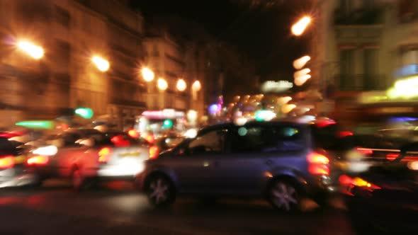 Traffic Roundabout Nighttime Urban 2