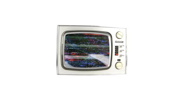 Abstract Stop Frame Retro Television Moving 2