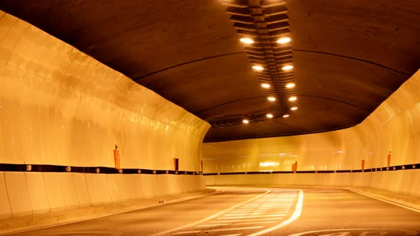 Tunnel Night Traffic Road 5