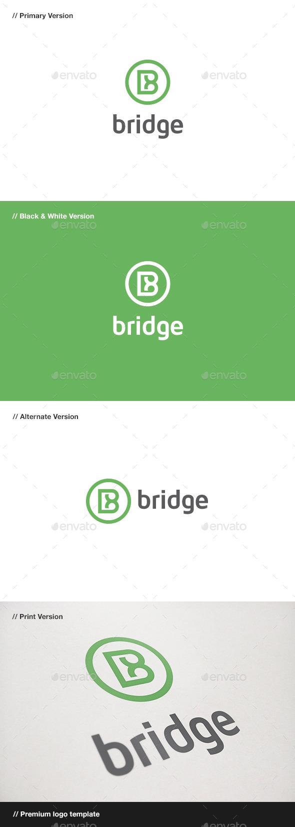 GraphicRiver Bridge Letter B Logo 10971690