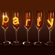 "A few glasses with the text ""party"" - PhotoDune Item for Sale"