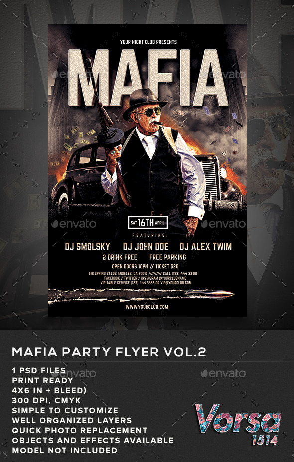 GraphicRiver Mafia Party Flyer vol.2 10971953