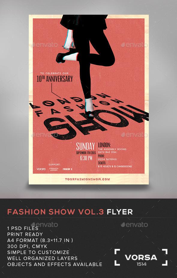 GraphicRiver Fashion Show Flyer vol.3 10972059