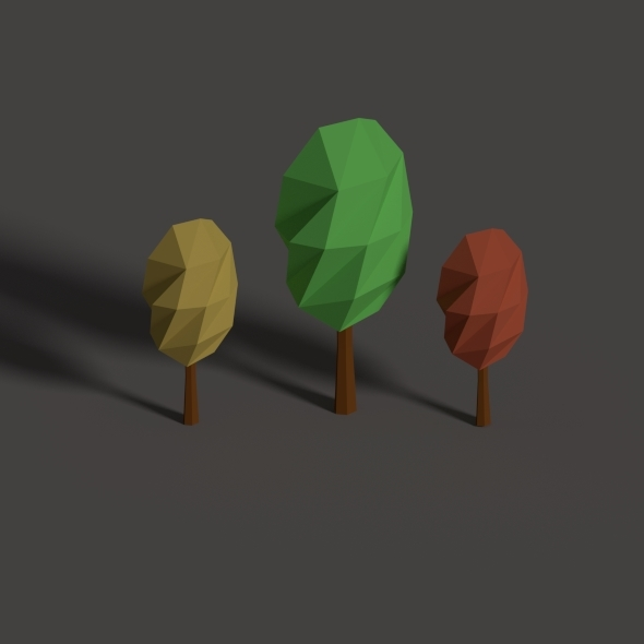 3DOcean low poly trees 10972121