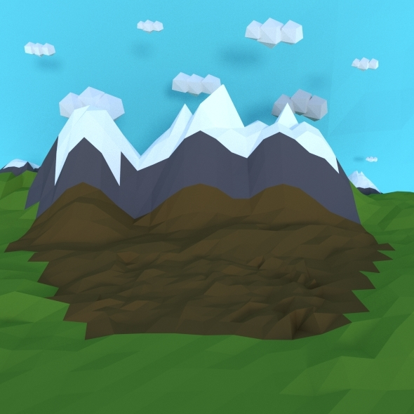 Mountains and Clouds - 3DOcean Item for Sale