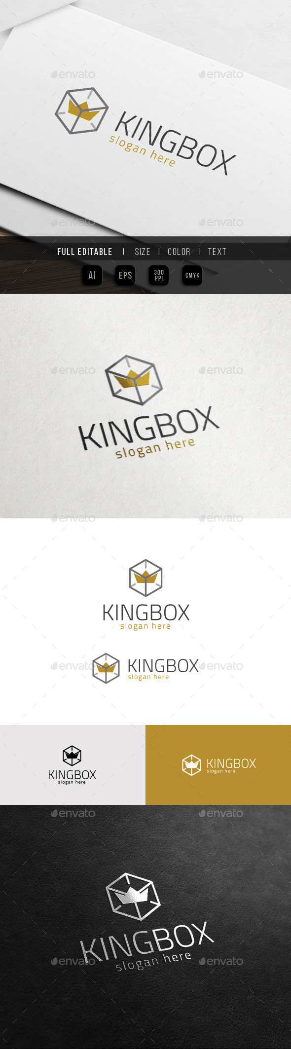 GraphicRiver King Box Royal Hosting Logo 10972381
