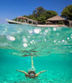 Collage with Woman Diving to Underwater - PhotoDune Item for Sale