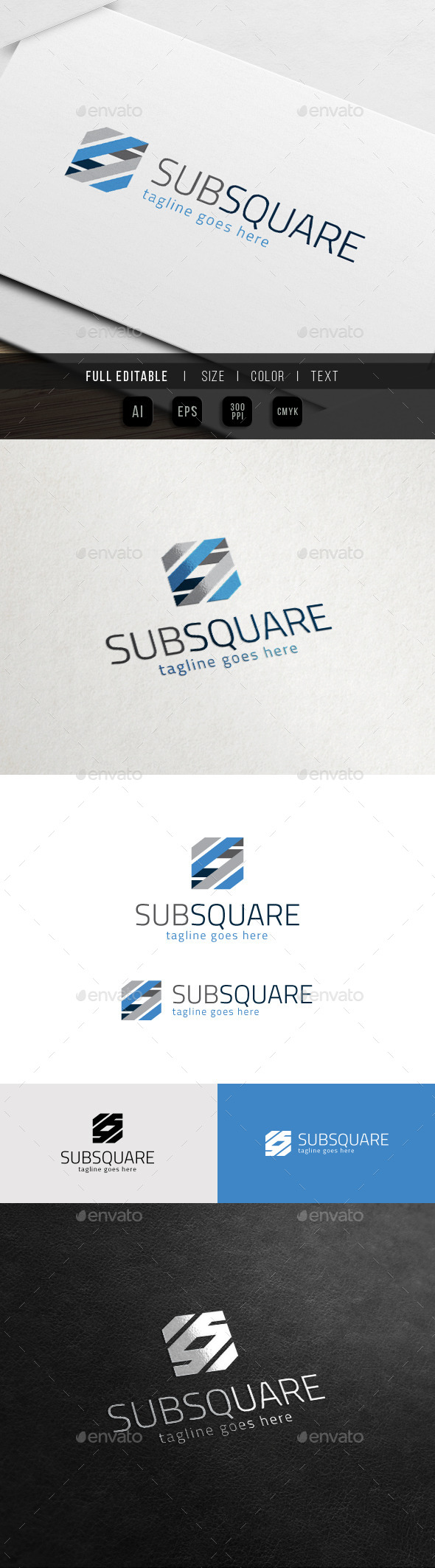 GraphicRiver Sub Square Abstract S Logo 10972424