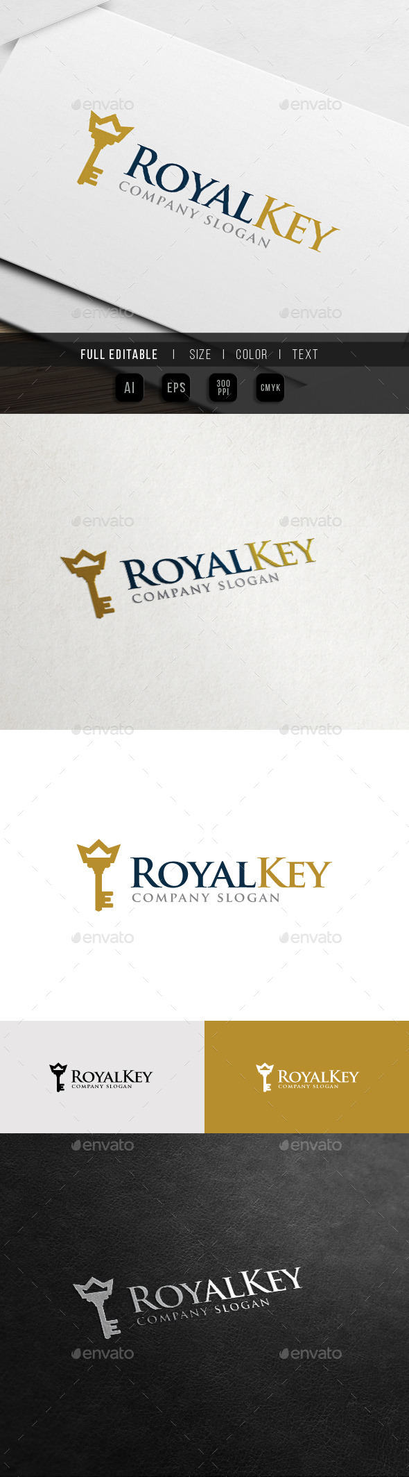 GraphicRiver Royal Key King Palace Hotel Logo 10972432