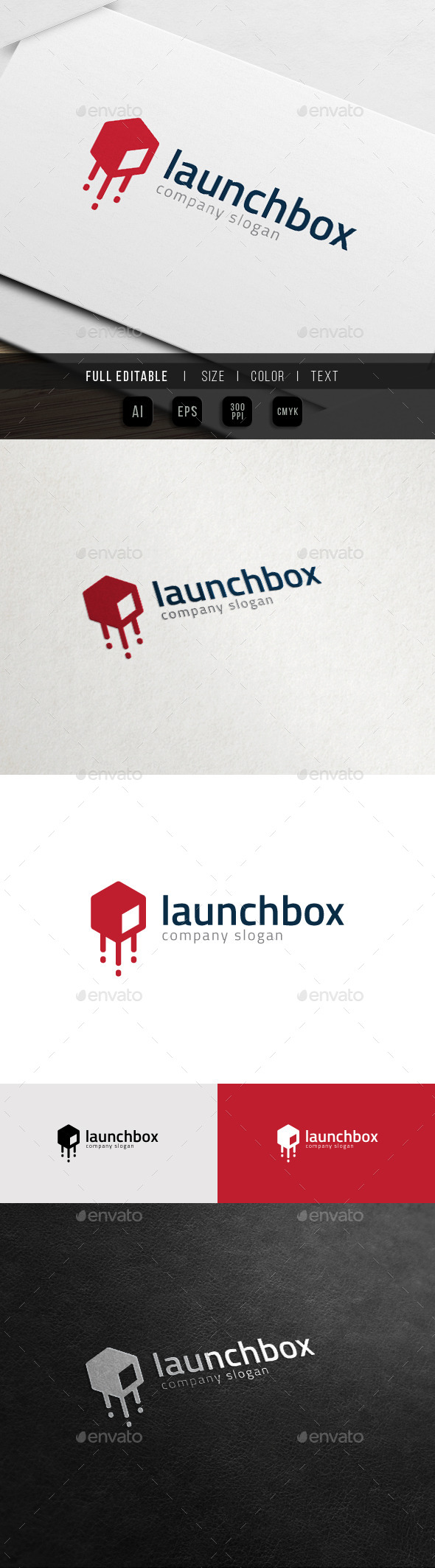 GraphicRiver Launch Box App Startup Growth Logo 10972442