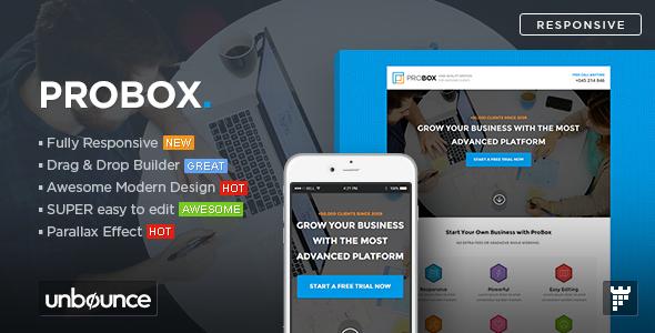 ProBox - SaaS Unbounce Landing Page Template