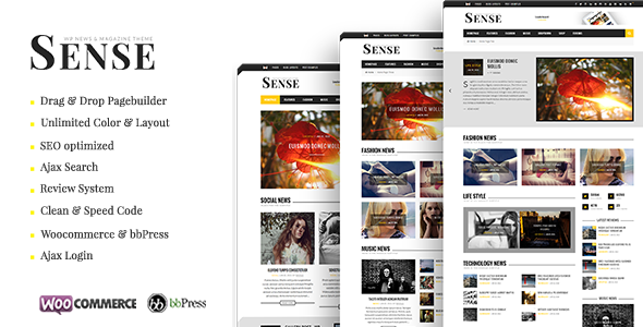 ThemeForest Sense Blog Magazine & News Theme 10434558