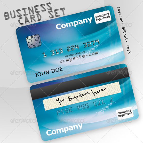 Business card set Credit Card Creative Business Cards