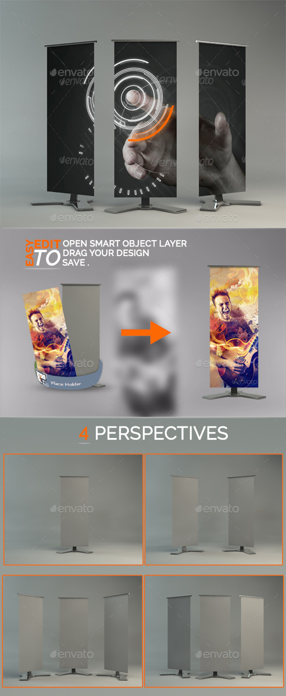 GraphicRiver special Rollup banner mockup 10972902