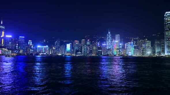 VideoHive Victoria Harbour Hong Kong Skyline At Night Hong Kong China 1 10973599