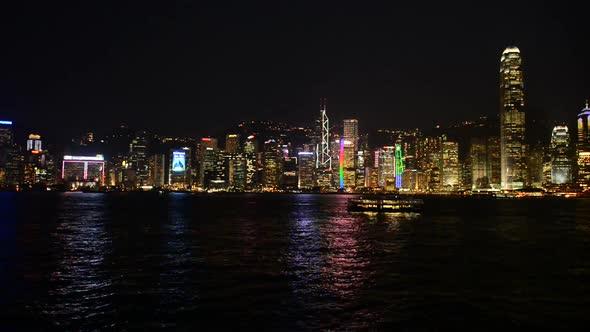 VideoHive Victoria Harbour Hong Kong Skyline At Night Hong Kong China 2 10973612