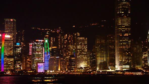 VideoHive Victoria Harbour Hong Kong Skyline Night Hong Kong China 10973630