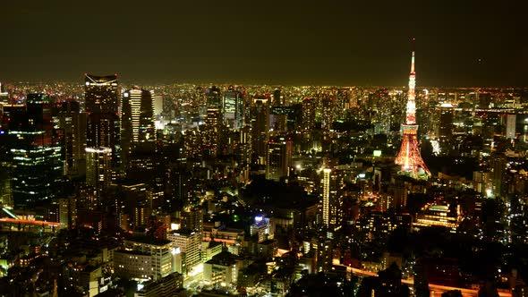 Tokyo Skyline At Night Tokyo Japan