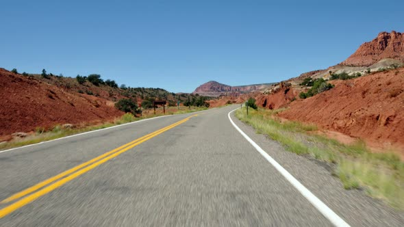 Driving Through Capital Reef Utah 1