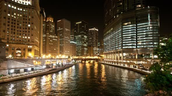 Chicago Skyline At Night 1
