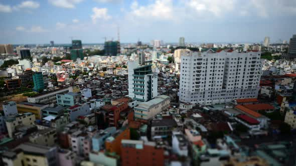 Clouds And Shadows Passing Over Ho Chi Minh City Saigon 1