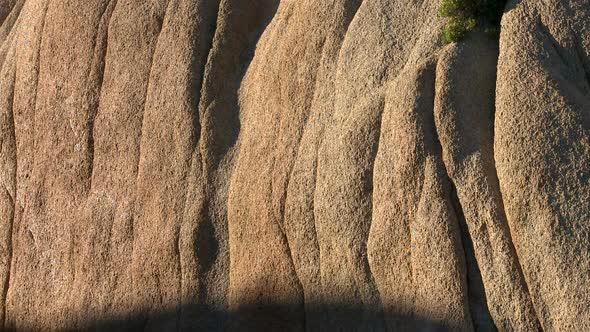 Desert Rocks Sunset Shadows Creep Along Rocks 1