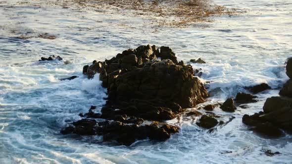 Ocean Waves Crashing On Rocks Big Sur 1