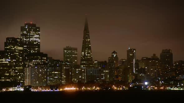 The Foggy San Francisco Skyline At Night 3