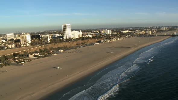 The Santa Monica California Coast Los Angeles Clip 1