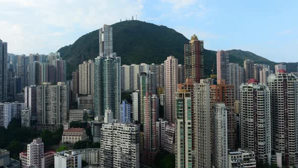 Clouds Over Hong Kong Skyline And Victoria Peak Hong Kong