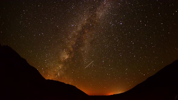 Perseids Meteor Shower In Mojave National Park 2