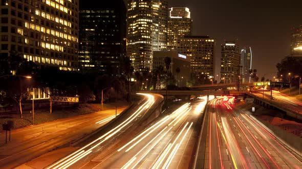 Downtown Los Angeles Traffic Night 3