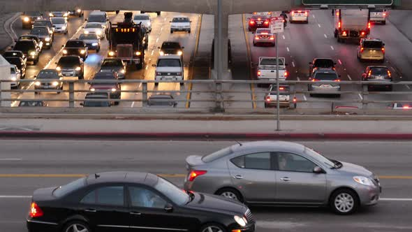 Heavy Traffic In Downtown Los Angeles 2