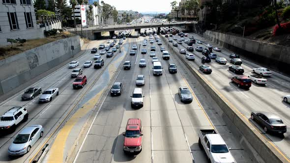 Traffic Jam In Downtown Los Angeles 12