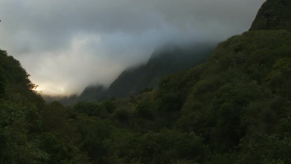 Clouds Mountains And Trees Clip 4