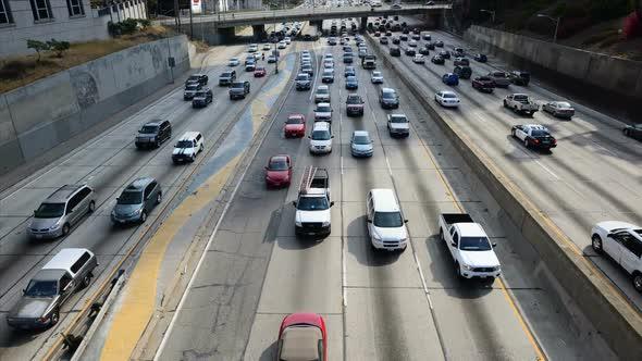 Traffic Jam In Downtown Los Angeles 17