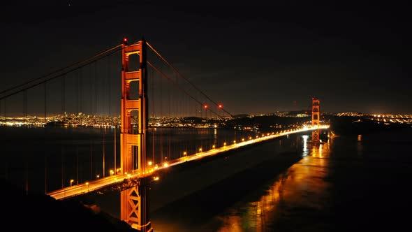 Golden Gate Bridge At Night 3