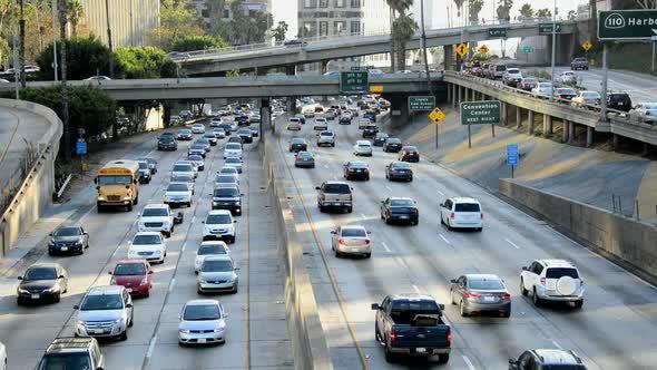 Traffic On Busy Freeway In Los Angeles 16