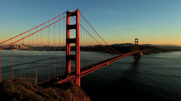 VideoHive San Fran Between Golden Gate Bridge Sunset Clip 1 10975098