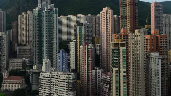VideoHive Clouds Over Hong Kong Skyline And Victoria Peak Hong Kong 10975311