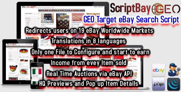 CodeCanyon ScriptBay GEO Geo Target eBay Search Script 10975410