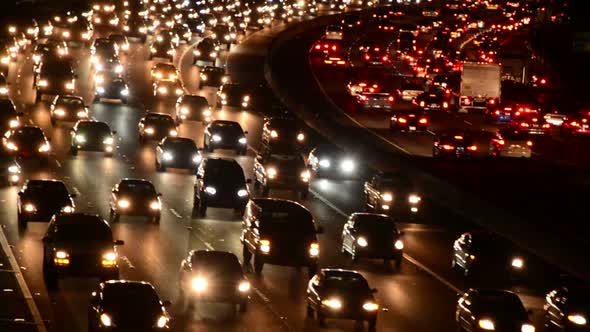 Evening Rush Hour Traffic In Los Angeles 3