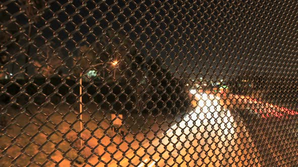 Traffic Through Wire Fence
