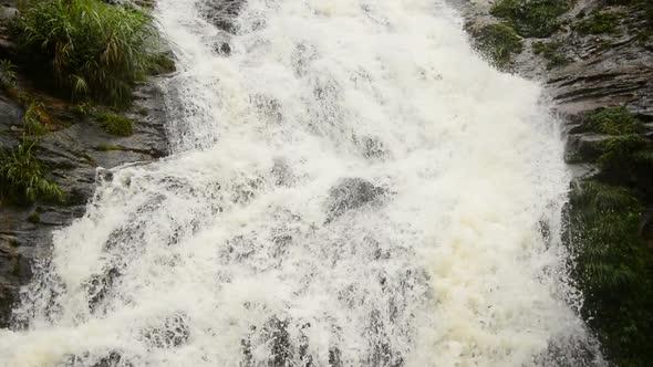 Raging Waterfall During Rainstorm Sapa Vietnam 1